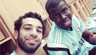 Salah and Zouma get ready for Chelsea training
