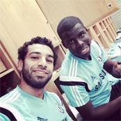 Photo: Mohamed Salah and Kurt Zouma get ready for Chelsea training