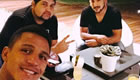 Sanchez enjoys dinner with his brother