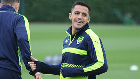 Photos: Arsenal's forgotten man trains with Sanchez, Ozil ahead of Leicester clash