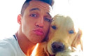 Sanchez snaps selfie with pet dog, Atom