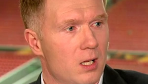 Paul Scholes reacts to Man Utd's 1-0 win at Hull City