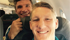 Photo: Bastian Schweinsteiger snaps selfie with reported Man Utd target Thomas Muller