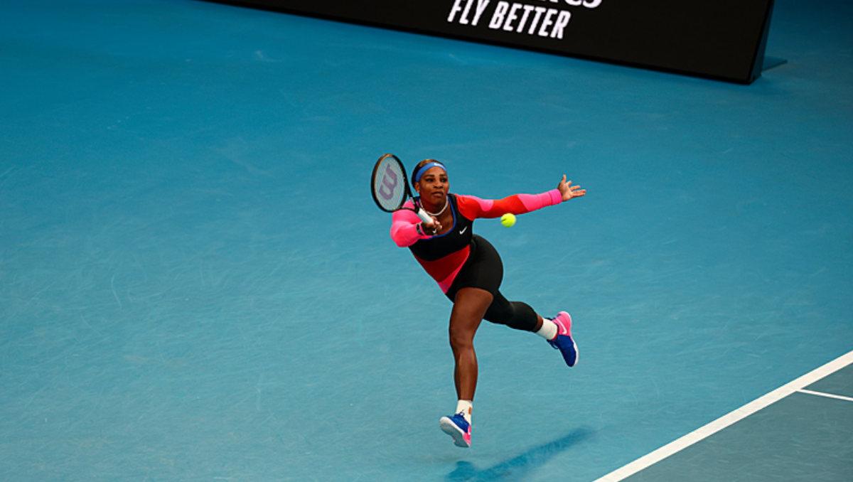 Serena Williams in action at the Australian Open (Photo: Tennis Australia / Handout)