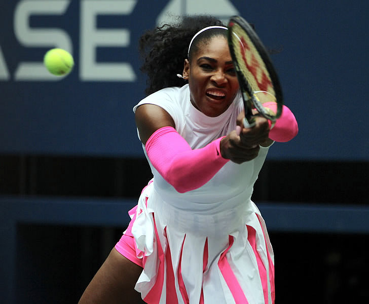 Serena Williams beats Zarina Dyas in first round at Indian Wells