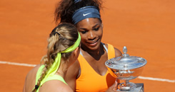 Ruthless Williams downs Azarenka to win Rome title
