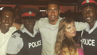 Smalling enjoys night out in Barbados