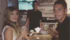 Photo: Man Utd star enjoys drinks with brother and girlfriend