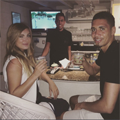 Smalling enjoys drinks with brother and girlfriend