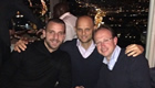 Soldado enjoys dinner with friends after win