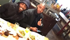 Photo: Liverpool star Daniel Sturridge enjoys meal with Tinie Tempah