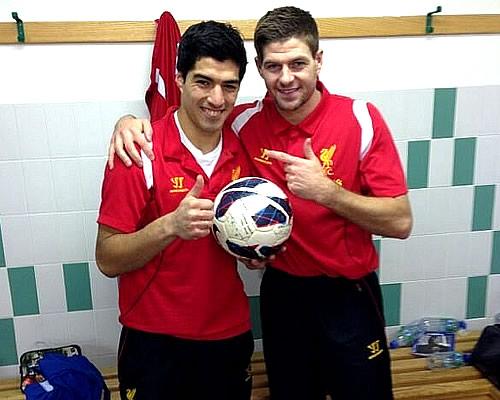 Luis Suarez Steven Gerrard