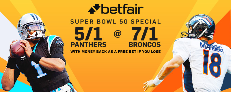 Super Bowl 50 betting offers: 5/1 on Carolina Panthers or ...