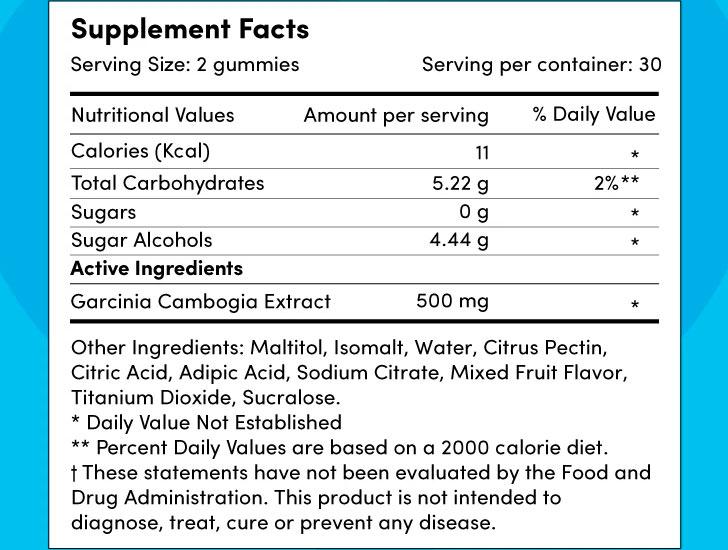 The Super Fat Burning Gummes Hunger Buster Ingredients Formula