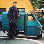Photo: Arsenal's Wojciech Szczesny finds some new wheels in Rome