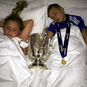 Terry tucks his kids into bed with League Cup