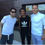 Fabregas, Terry and Cuadrado all smiles after training
