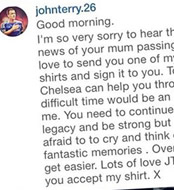 Photo: John Terry makes amazing gesture to Chelsea fan on Instagram