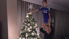 Terry puts finishing touches to Christmas tree