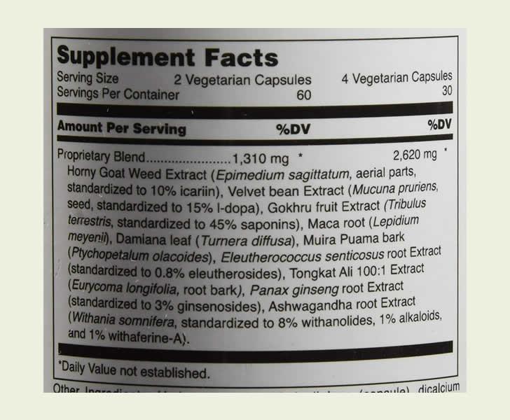 TestoGain ingredients