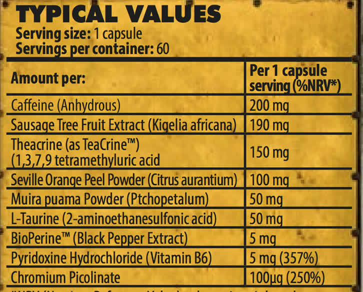 Thermo 9MM ingredients
