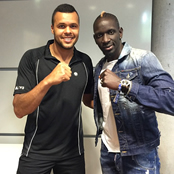 Sakho all smiles with Tsonga in Paris