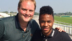 Photo: Liverpool forward Raheem Sterling meets Soccer AM's Tubes