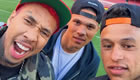 Photo: Arsenal duo snap selfie with rapper on Emirates pitch