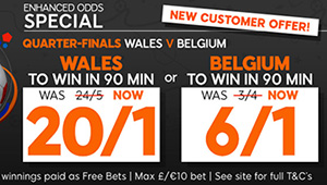 Betting tips: Wales v Belgium odds, kick-off time and betting preview