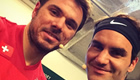 Photo: Roger Federer and Stan Wawrinka star in The Match for Africa 2