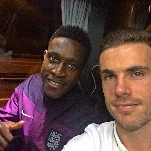 Photo of Jordan Henderson & his friend football player  Danny Welbeck - Liverpool, England