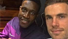 Henderson takes snap with MOTM Welbeck