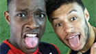 Photo: Arsenal's forgotten striker snaps selfie with Alex Oxlade-Chamberlain
