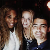 Photos: Serena Williams parties with Caroline Wozniacki after US Open win