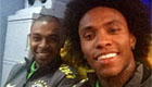 Willian snaps selfie with Fernandinho