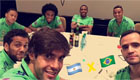 Photo: Chelsea star all smiles with Kaka ahead of Argentina clash