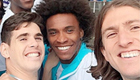 Chelsea star Willian snaps Brazil-themed selfie