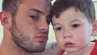 Photo: Jack Wilshere poses with his son in an Arsenal kit