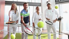 Photos: Tommy Haas and Pat Cash rally on floor 69 of The Shard
