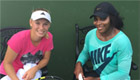 Photo: Wozniacki tells Williams 'good job' ahead of Australian Open final