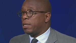 Ian Wright reacts to Arsenal's 3-0 win over Chelsea