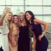 Photo: Ana Ivanovic and Caroline Wozniacki squeeze into selfie