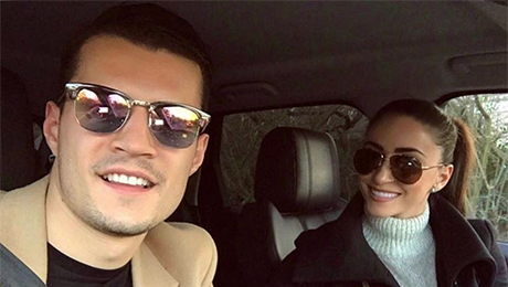 Photo: Arsenal star Granit Xhaka spends day with his stunning fiancee ahead of FA Cup clash