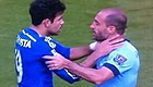 Photo: Pablo Zabaleta can't believe Chelsea's Diego Costa didn't see red