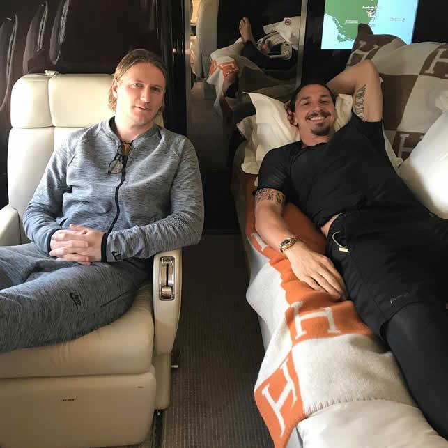 zlatan private jet