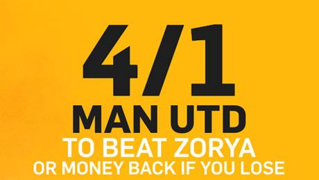 Zorya v Man United: 4/1 enhanced odds, kick-off time and prediction