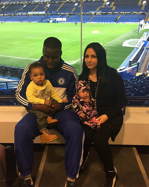 Kurt Zouma with Wife Sandra